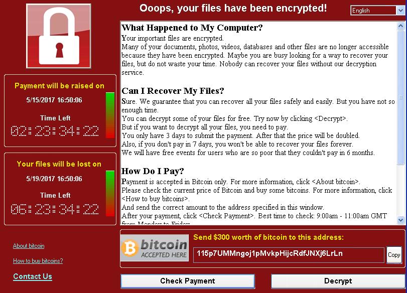 Ataque Ransomware: Microsoft lanza un parche de seguridad para versiones antiguas de Windows
