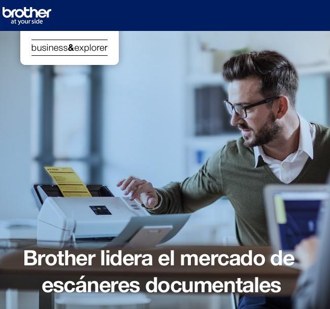Brother lidera el mercado de escáneres documentales
