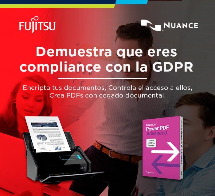 LOPD y GDPR. Encripta tus documentos y crea PDFs con Fujitsu y Nuance